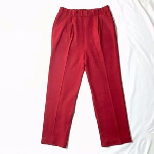 St John Evening Knit Pants Red Straight Cranberry